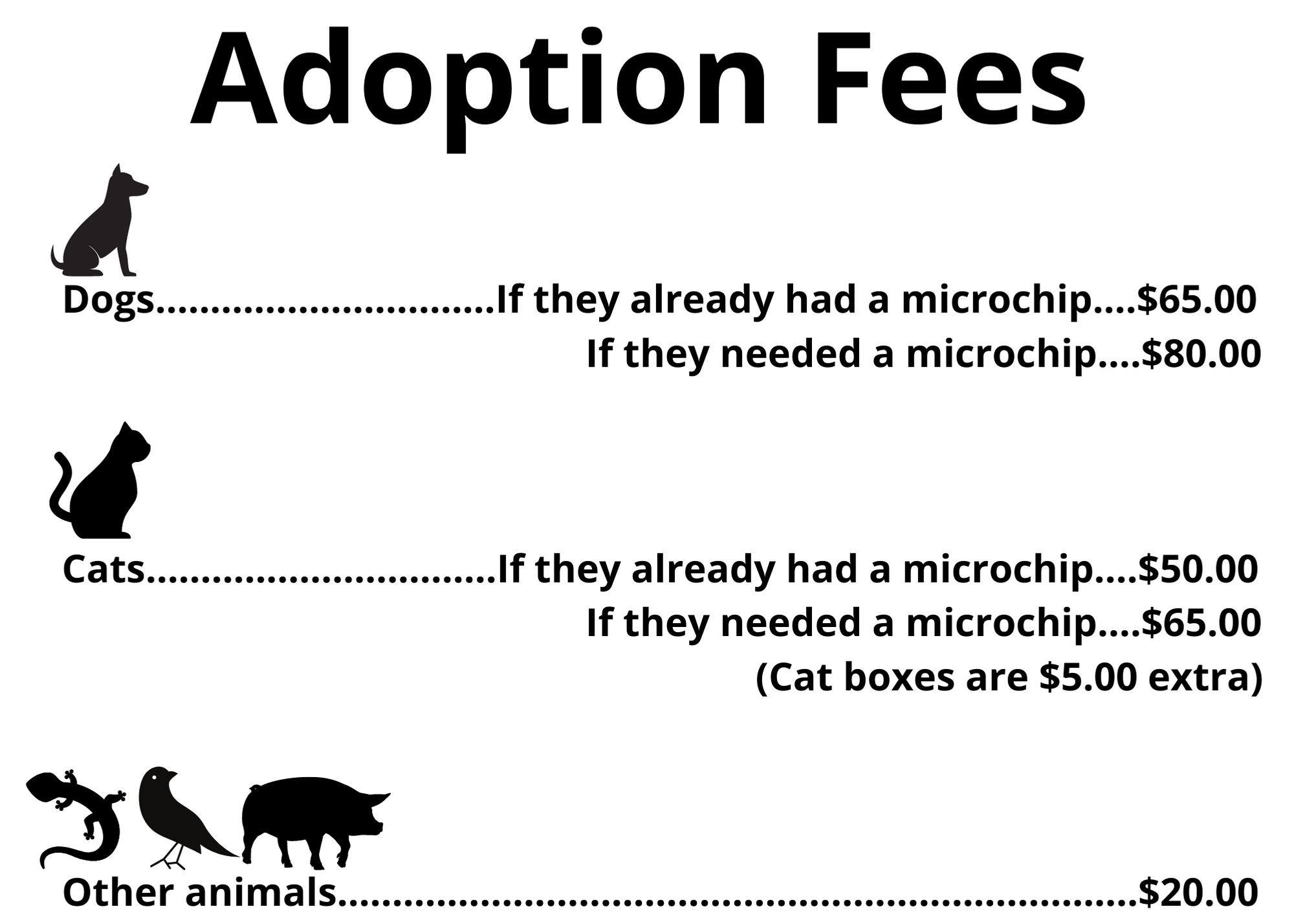 adoption fees